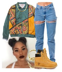 """90's"" by xtiairax ❤ liked on Polyvore featuring Timberland"