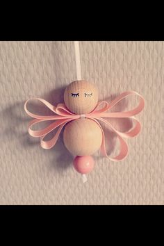 Wooden Bead Angel: no instructions, but looks like it would be easy enough by…