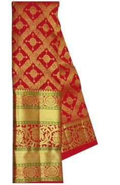 Red Handloom Kanjeevaram Pure Silk Saree With Big Border Big Broder, Wedding Silk Saree, Embroidery Saree, Banarasi Sarees, Pure Silk Sarees, Indian Sarees, Sarees Online, Blouse Designs, Cool Outfits