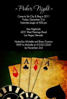 Poker Night In Vegas Casino Party Invitation by PurpleTrail.com