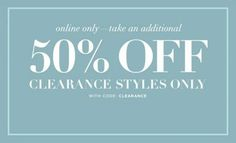 - Club Monaco Reduces All Clearance Items By An Extra 50%