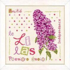 Le lilas - Lilipoints - A broder au point de croix