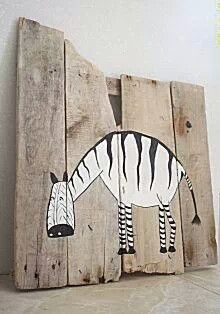 Print op steigerhout