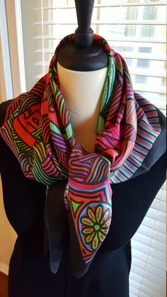 """2 New Scarves A Black and A Red Cotton 18/"""" x 58/"""" Stylish Soft Scarf Brand New"""