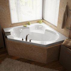 Mountain Home Evergreen 60 x 60 Acrylic Soaking Drop-in Bathtub