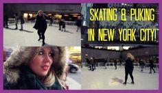 Skating & Puking In New York British Youtubers, Skating, New York City, Glitter, Roller Blading, New York, Nyc, Ice Skating, Sequins