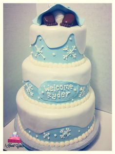 Winter Wonderland Baby Shower Cake