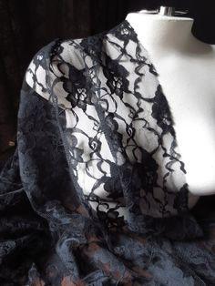 Dentelle tissu pour vêtements noir, Costume victorien Design, chapellerie, vêtements de deuil