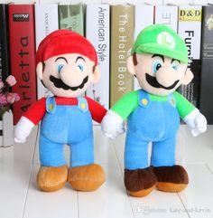 Venta Al Por Mayor 10 '' Envío Libre De Super Mario Bros Soporte Mario Luigi Muñeca De La Felpa De Peluche De Juguete Y Al Por Menor…