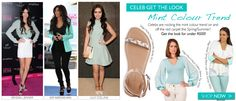 We posted about mint this week as one of our favourite Spring colour trends... and it seems we're not alone! Celebs are minting it up both on the red carpet and off...