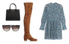"""""""Sin título #5947"""" by ceciliaamuedo ❤ liked on Polyvore featuring Topshop Unique, Gianvito Rossi, Prada and Thierry Lasry"""