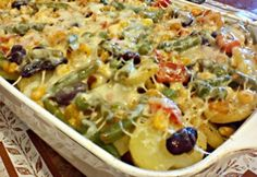 Zöldséges tepsis burgonya Dash Diet Recipes, Hungarian Recipes, Hungarian Food, One Pot Meals, Potato Recipes, Family Meals, Pasta Salad, Macaroni And Cheese, Food To Make