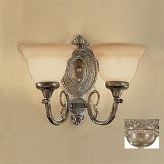 Classic Lighting 2-Light Bronze Arm Wall Sconce