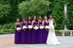 LOVE this feature in Black Bride Magazine of our Synderela Styled Wedding Party. Purple Wedding, Wedding Bride, Wedding Colors, Wedding Styles, Dream Wedding, Wedding Vintage, Wedding Flowers, Wedding Party Dresses, Bridesmaid Dresses