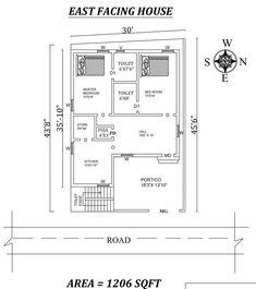 2bhk House Plan, Small House Floor Plans, Model House Plan, Simple House Plans, House Layout Plans, Simple House Design, 2 Bedroom House Design, Home Map Design, 2 Bedroom House Plans