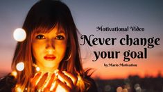 How to reach your goal or dream? Never change your goal (motivational Video) In our fast world we get used to chase everything at the same time. Motivational Videos, Inspirational Videos, Never Change, To Reach, You Changed, Dreaming Of You, How To Get, Goals