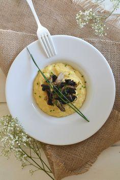 Polenta Crémeuse aux Champignons. 100% #Végétal #Vegan http://www.lesrecettesdejuliette.fr