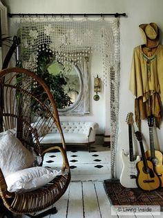 Muito linda esta cortina para divisória.