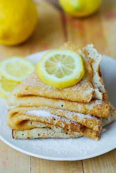 Lemon sugar dessert crepes by JuliasAlbum.com, via Flickr