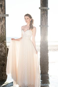 Our Jenna Dress - Beach Bride Shoot #beach #bridal #destinationwedding #wedding #dress #ellebay   Photography by Warin Marie Photography