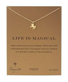 Dogeared Life is Magial Unicorn Reminder Necklace #accessories  #jewelry  #necklaces  https://www.heeyy.com/suggests/dogeared-life-is-magial-unicorn-reminder-necklace-gold/