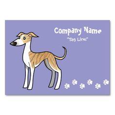 Cartoon Greyhound / Whippet (fawn brindle irish) Business Card
