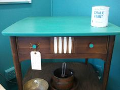Mid Century Side Table by Thrill of the Hunt -Florence and Old White accent