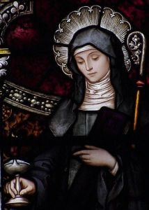 St. Brigid of Ireland, patron saint of children whose parents are not married.