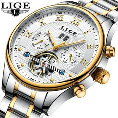 2018LIGE Mens Watches Top Brand Luxury Men's Automatic Mechanical Watch Men's Stainless Steel Waterproof Watch Relogio Masculino. Yesterday's price: US $349.90 (303.22 EUR). Today's price: US $38.49 (33.52 EUR). Discount: 89%.