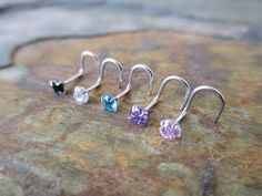 Sterling Silver .925 Nose Screw with 3mm by BohemianBodyJewellry
