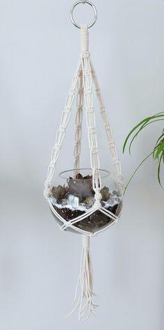 Cotton Macrame Plant Hanger!