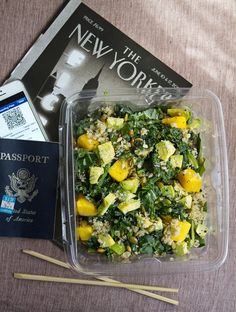 Travel Recipe: Airplane Salad with Greens, Grains & Seeds from The Kitchn