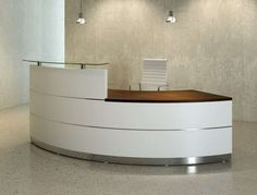 """""""Madison"""" Reception Desk. Madison Reception Counters can bring the look and feel of understated quality to any Reception Environment. 2700mm in Width. Madison Reception Units are built to special order to reflect your own specification. Please call us for further information or to discuss a free quotation. Prices From £3444.00 Plus vat. http://www.somercourt.co.uk/reception-desks/reception-desks/madison-reception-desk"""