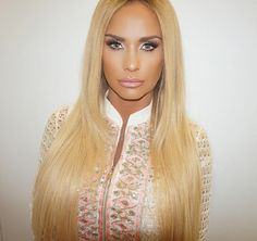 """1,678 Likes, 52 Comments - Melissa Sophia (@mellysophiamua) on Instagram: """"@officialkatieprice on loose women today, amazing anti bullying petition hair by…"""""""