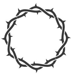 Crown of thorns vector 110677 - by nezabarom on VectorStock® Crown Of Thrones, Compass Tattoo, Thorn Tattoo, Crown Of Thorns Plant, Christian Drawings, Jesus Crown, Crown Illustration, Jesus Drawings, Christ Tattoo