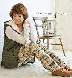 Rakuten: Checked pattern leggings underwear ■ 88 with spring D original pocket- Shopping Japanese products from Japan