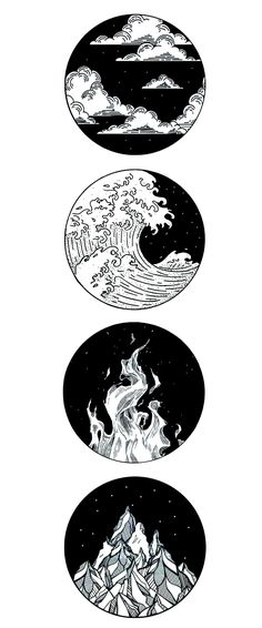 four elemental tattoo - four elemental tattoo - . - four elemental tattoo – four elemental tattoo – - Cool Art Drawings, Pencil Art Drawings, Art Drawings Sketches, Tattoo Sketches, Kunst Tattoos, Body Art Tattoos, Small Tattoos, Tiny Tattoo, How To Draw Tattoos
