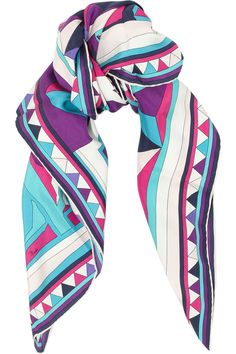 bring a scarf you love, maybe this one by Emilio Pucci