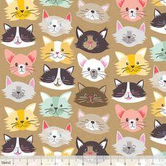 Cat faces kitties in colors. Maude Asbury - Best in Show - Cat Fancy in Kraft