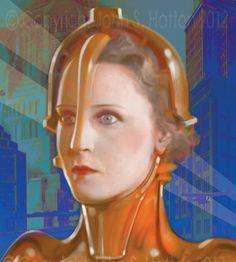 Metropolis Fritz Lang Brigitte Helm Science by hattonstudio, $25.00