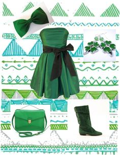 """Happy Saint Patricks Day"" by rosefairy613 ❤ liked on Polyvore"