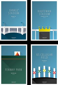 Minimalist baseball stadium posters | For The Win