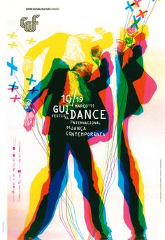 GUIDANCE 2011 POSTER for contemporary dance festival hosted at the CCVF Guimarães. by Atelier Martinoña , via Behance