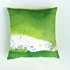 Ocean Waves Marimekko Cushion Cover in Green