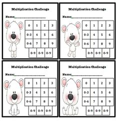 1 Multiplication fluency chart for students' to chart