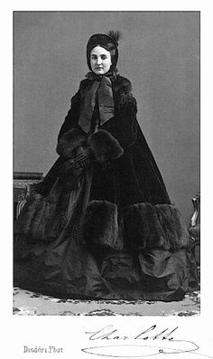 Princess Charlotte wearing a fur paletot from the front From oldrags.tumblr.com-image-18354098496 detint despot