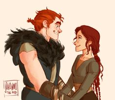Young Stoick and Valka. NOPE IT HURTS.<<--- HE LOOKS LIKE HICCUP!!!!!!!!!