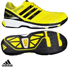 Adidas BT Feather Badminton Shoes (Black Yellow) cf5bfee76a