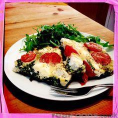 Italian Vegetarian Cherry Tomato Spinach And Feta Frittata Recipe