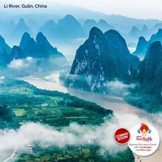 Li River, Gulin China It flows 83 kilometeres from Guilin to Yangshuo is like an artist's masterpiece. http://www.farebuddy.com